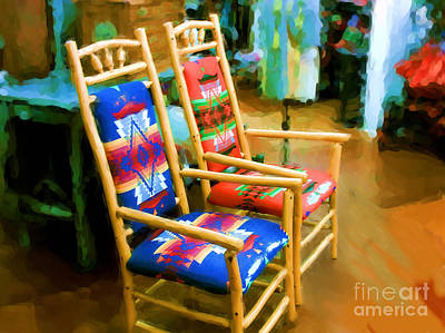 Digital Art - Pendleton Chairs by Methune Hively