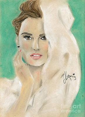 Penelope Wall Art - Painting - Penelope Cruz by PJ Lewis