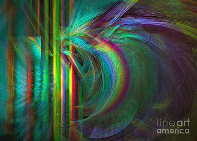 Digital Art - Penetrated By Life - Abstract Art by Sipo Liimatainen