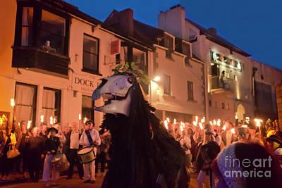 Photograph - Penglaz Golowan Torch Parade by Terri Waters
