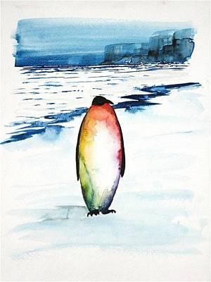 Penguin 1 Print by Carolyn Doe
