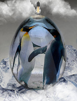 Mixed Media - Penguin Art by Marvin Blaine
