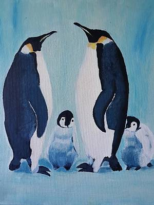 Painting - Penguin Family  by Cassy Allsworth