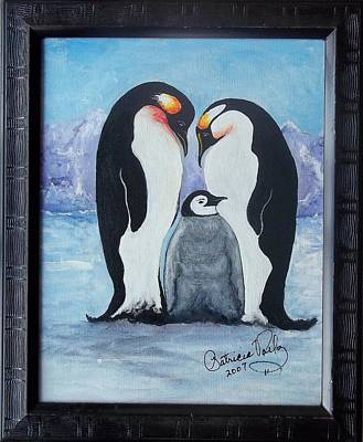 Painting - Penguin Family by Patricia Voelz