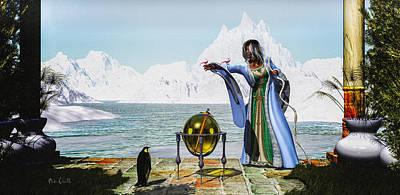 Orsillo Digital Art - Penguin Magic And The Winter Witch by Bob Orsillo