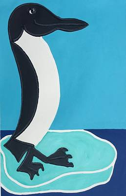 Painting - Penguin by Matthew Brzostoski