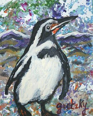 Penguin Painting - Penguin by Paintings by Gretzky