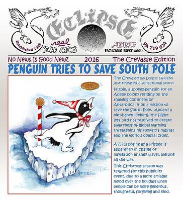 Painting - Real Fake News Saving The South Pole by Dawn Sperry