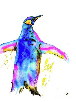 Painting - Penguin by Zaira Dzhaubaeva