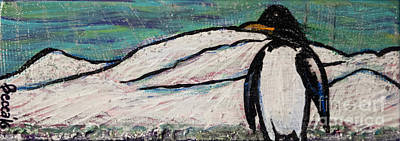 Painting - Penguino by Rebecca Weeks Howard