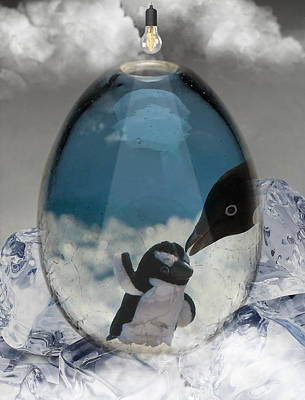 Penguin Mixed Media - Penguins Art by Marvin Blaine