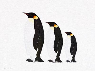 Painting - Penguins Family  by Gabriella Weninger - David