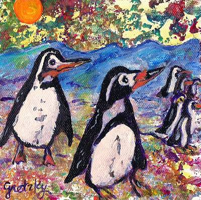 Gretzky Painting - Penguins by Paintings by Gretzky