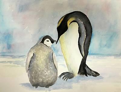 Soap Suds - Penguins by Marita McVeigh