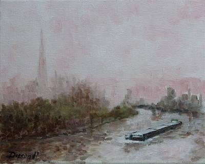 Peniche A Francfort - Oil On Canvas Original by Jean-Pierre Ducondi