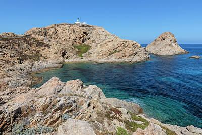 Peninsula L'ile Rousse - Corsica Art Print
