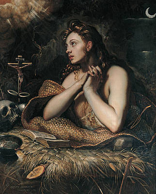 Painting - Penitent Magdalene by Domenico Tintoretto