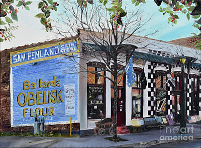 Painting - Penland Bros Store - Ellijay Georgia - Historical Building by Jan Dappen