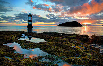Photograph - Penmon Lighthouse Anglesey by Mal Bray