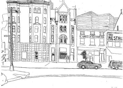 Drawing - Penn Ave Nw by William Tilton