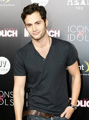 Penn Badgley At Arrivals For In Touch Art Print by Everett