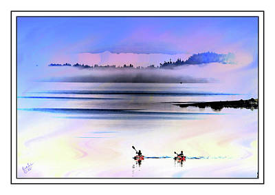 Photograph - Penn Cove Kayakers by Rick Lawler