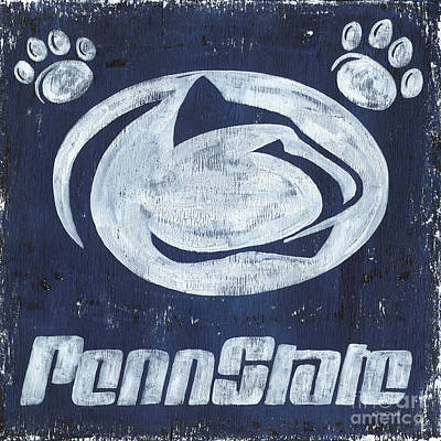 Football Paintings - Penn State by Debbie DeWitt
