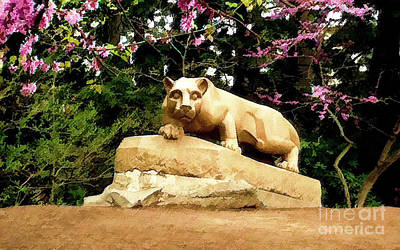 Penn State University Mixed Media - Penn State Lions by DJ Fessenden