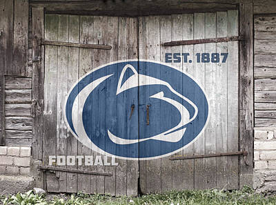 Penn State University Digital Art - Penn State Football // Old Barn Doors by Tim Miklos