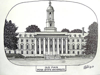Drawing - Penn State by Frederic Kohli