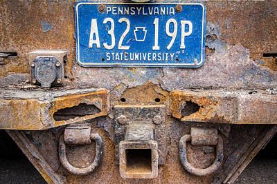 Penn State University Wall Art - Photograph - Penn State Maintenance Truck by Phillip Schafer