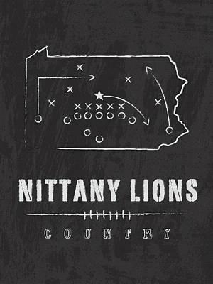 Pennsylvania Digital Art - Penn State Nittany Lions County by Damon Gray
