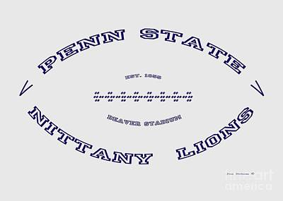 Photograph - Penn State Nittany Lions Football Design With Transparent Background by John Stephens