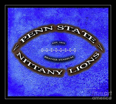 Photograph - Penn State Nittany Lions Minimal Football Poster by John Stephens