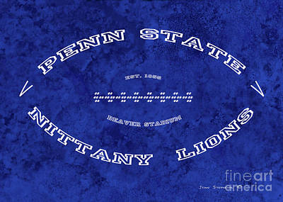 Photograph - Penn State Nittany Lions Football Tribute Poster Light Blue by John Stephens