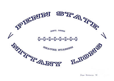 Photograph - Penn State Nittany Lions Football White Out Poster by John Stephens