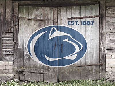 Penn State University Digital Art - Penn State Football // Old Barn Doors by Tim Miklos