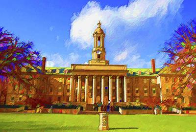 Penn State University Mixed Media - Penn State University by DJ Fessenden