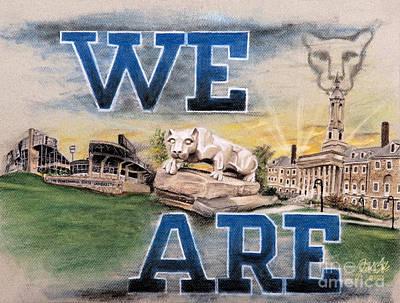 Joe Paterno Pastel - Penn State We Are by Jordan Spector