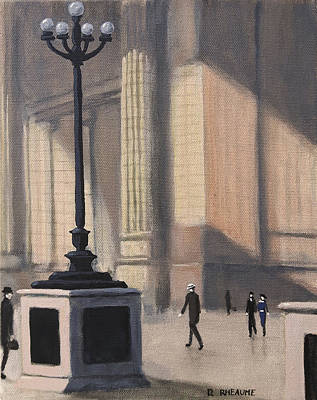 Painting - Penn Station 1920 by Dave Rheaume
