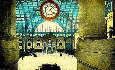 Painting - Penn Station Interior New York City by Dwight Goss