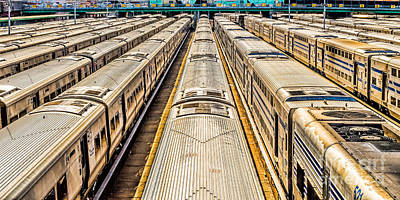Photograph - Penn Station Train Yard by Nick Zelinsky
