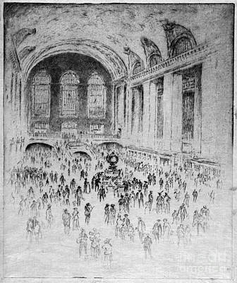 Drawing - Pennel Grand Central, 1919 by Granger