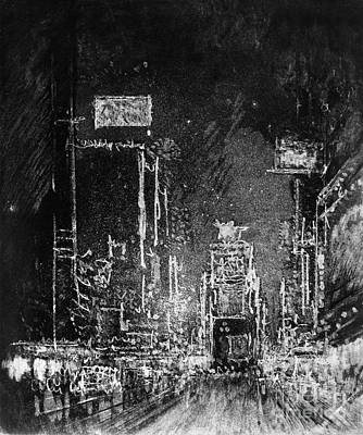 Drawing - Pennell Broadway Towers, 1904 by Granger