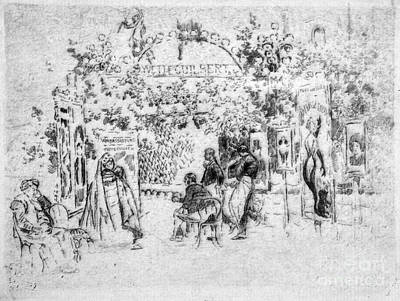 Drawing - Pennell Cafe Chantant, 1893 by Granger