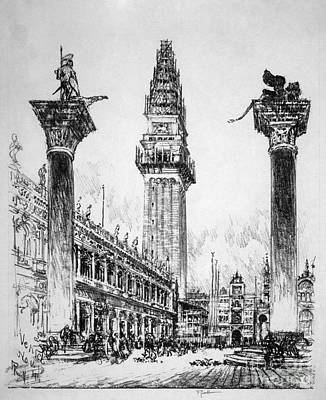 Drawing - Pennell Campanile, 1911 by Granger