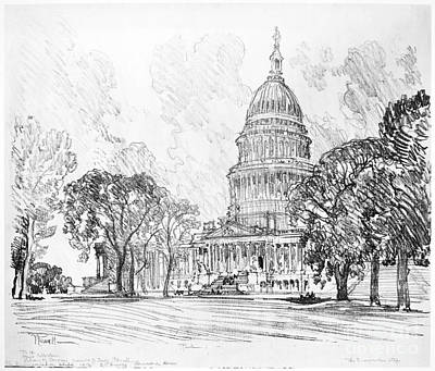 Washington D.c Drawing - Pennell Capitol, 1912 by Granger