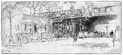 Drawing - Pennell Charing Cross, 1890 by Granger