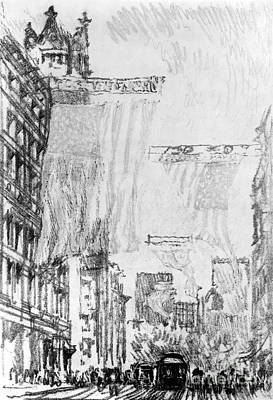Drawing - Pennell Flags, 1904 by Granger