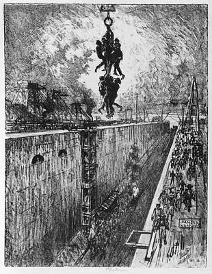Drawing - Pennell Gatun Lock, 1912 by Granger